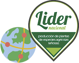 Líder nacional, producción de plantas de especies agrícolas leñosas